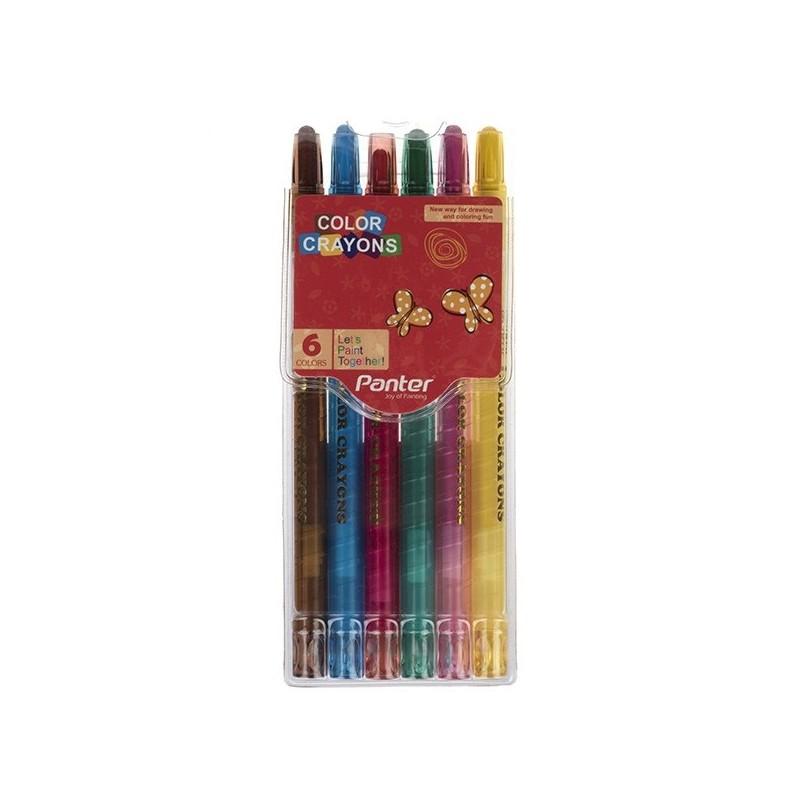 مداد شمعي 6 رنگ پنتر مدل Color