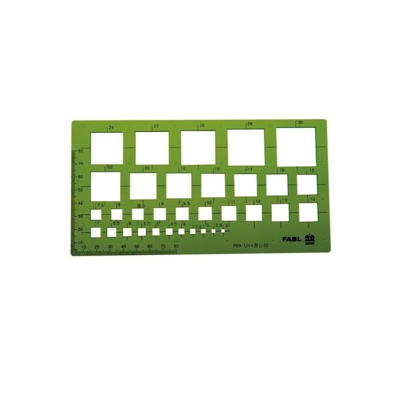 شابلون مربع فابل کد FB417
