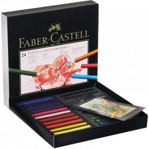 پاستل گچي 36 رنگ فابر-کاستل مدل Polychromos