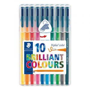 ماژيک 10 رنگ استدلر مدل Triplus Brilliant Colours
