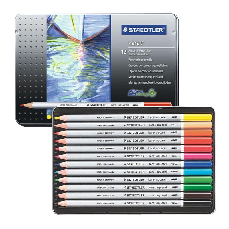 مداد آبرنگي 12 رنگ استدلر مدل Karat