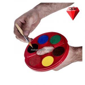 آبرنگ 6 رنگ فابر کاستل مدل Jumbo - رنگ هاي اصلي