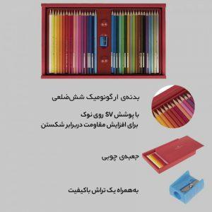 مداد رنگي 36 رنگ فابر-کاستل مدل Classic