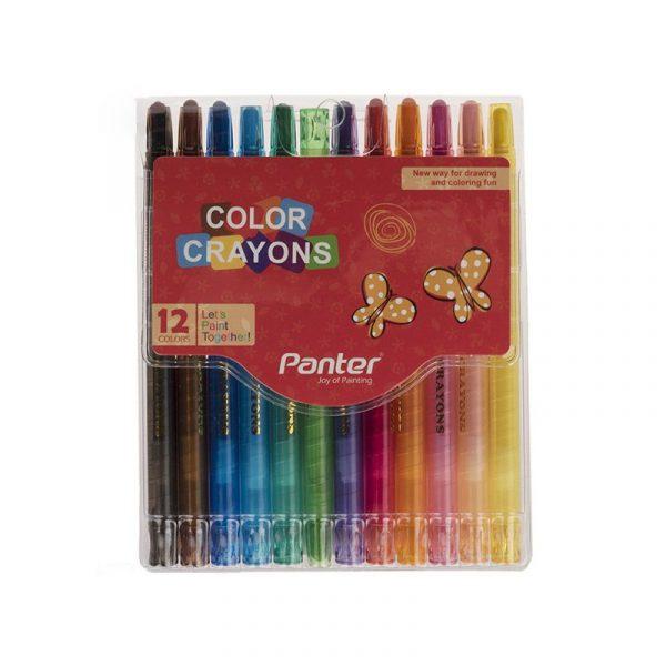 مداد شمعي 12 رنگ پنتر مدل Color