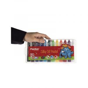 پاستل روغني 12 رنگ پنتر مدل 3in1