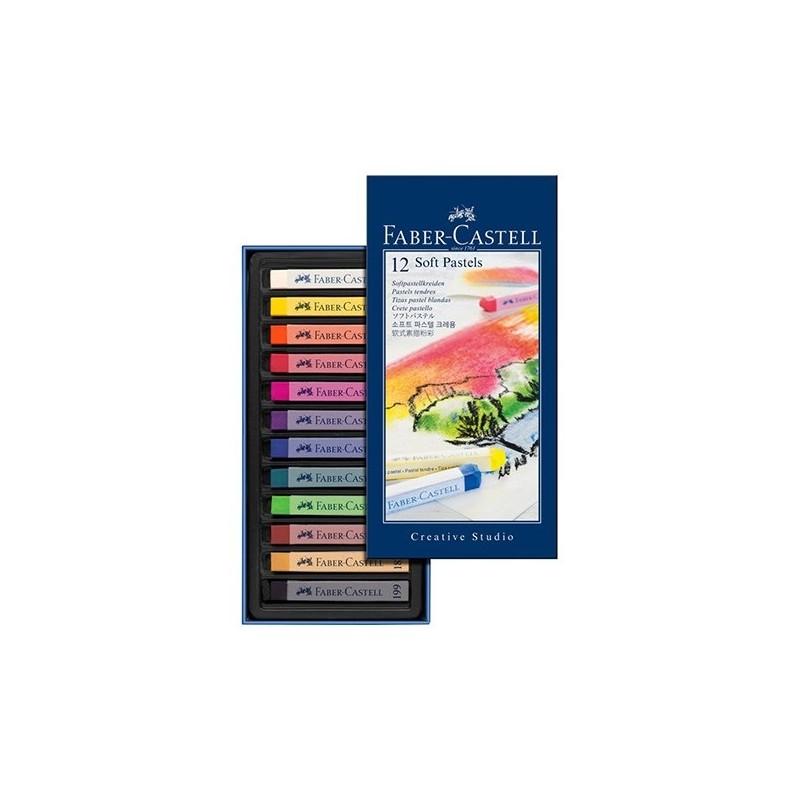 پاستل گچي 12 رنگ فابر-کاستل سري Creative Studio مدل Studio Quality