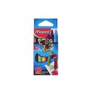 پاستل مومي مپد مدل کالرپپس - بسته 12 رنگ