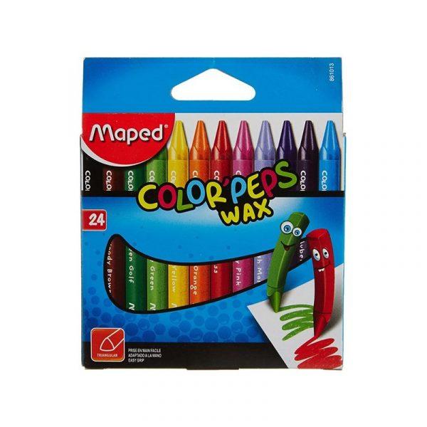 پاستل مومي مپد مدل کالرپپس - بسته 24 رنگ