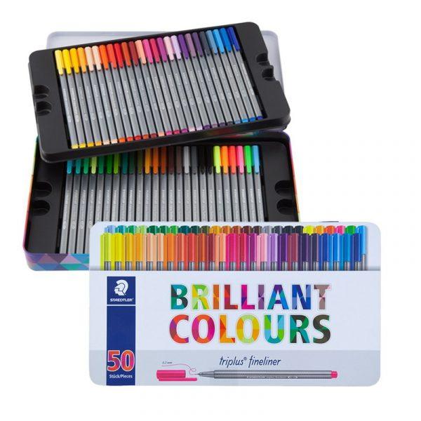 روان نويس 50 رنگ استدلر مدل Triplus Brilliant Colours