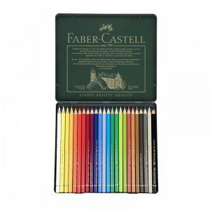 مداد رنگي 24 رنگ فابر کاستل مدل Polychromos