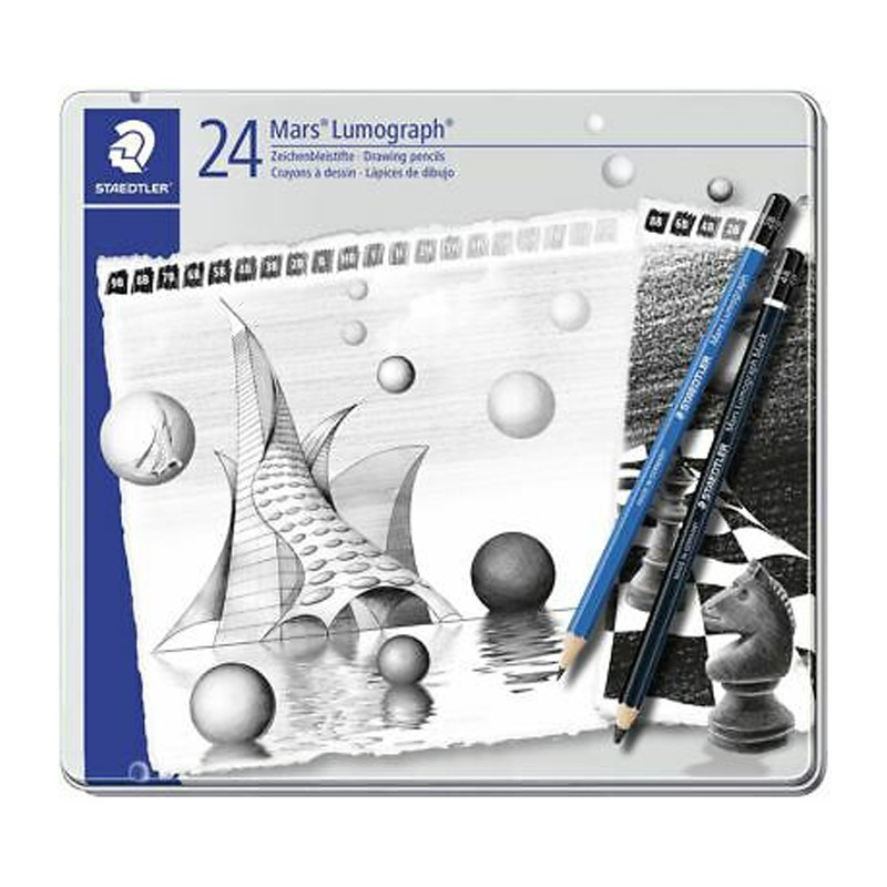 مداد طراحي استدلر مدل Mars Lumograph 100 G12 بسته 12 عددي