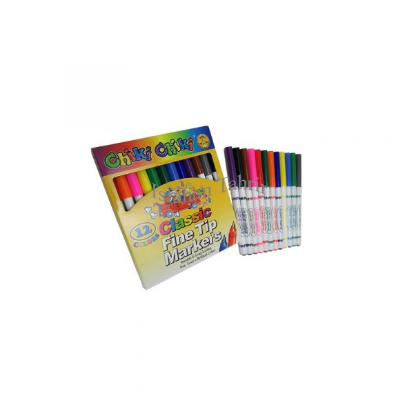 ماژیگ نقاشی 12 رنگ chiki مدل classic