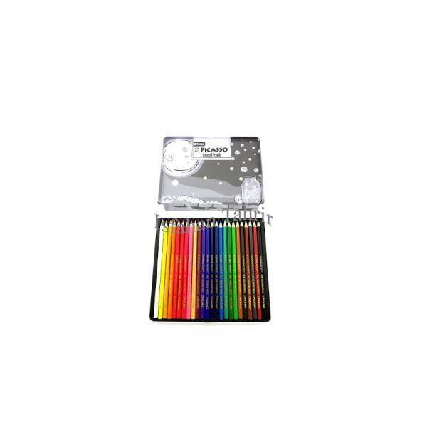 مداد رنگی 24 رنگ پیکاسو مدل super writer جعبه فلزی