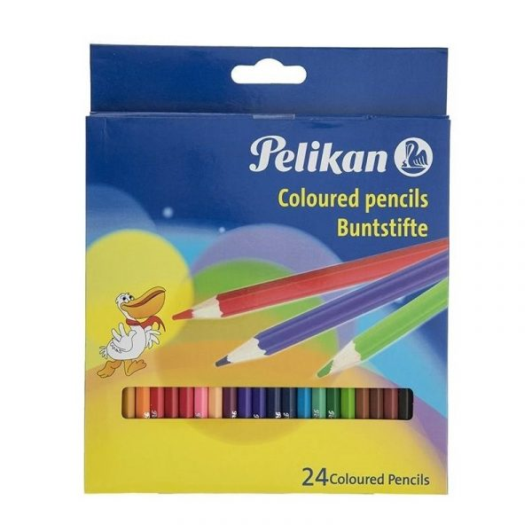 مداد رنگی 24 رنگ پلیکان