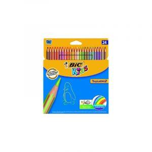 مداد رنگی 24 رنگ بیک همراه تراش