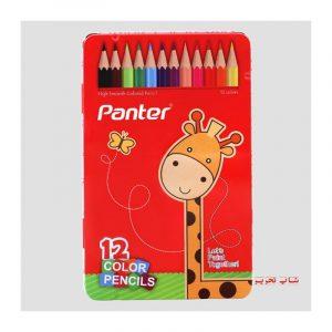 مداد رنگی پنتر جعبه فلزی