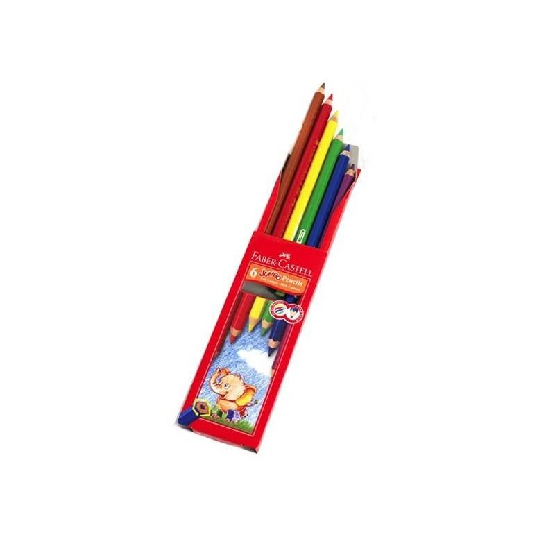 مداد رنگی 6 رنگ asia