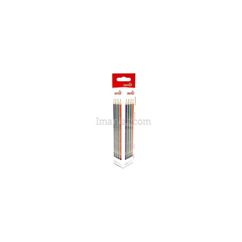 مداد مشکی بدنه رنگی بسته 12 عددی