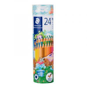 مداد رنگی استدلر 24 رنگ لوله ای مدل نوریس