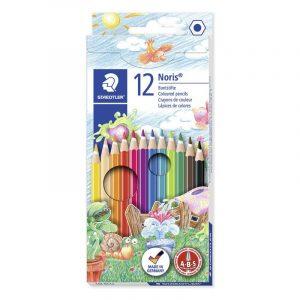 مداد رنگی استدلر 12 رنگ مدل نوریس