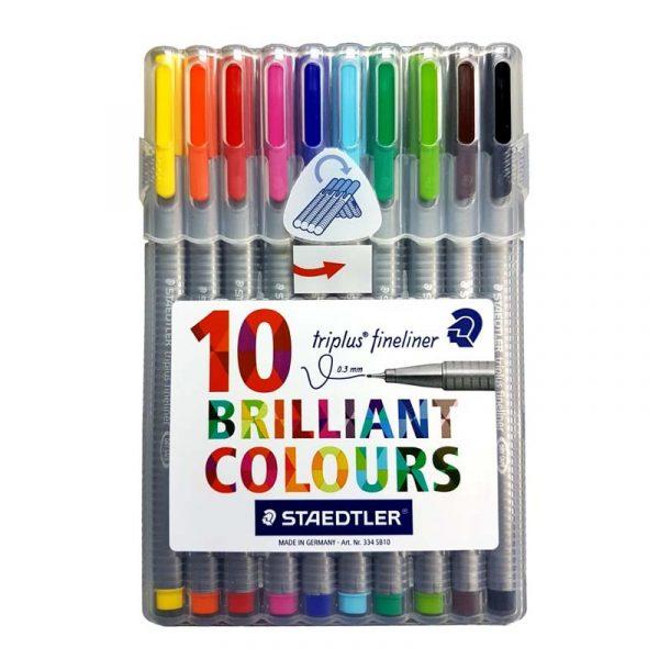 روان نویس استدلر 10 رنگ مدل triplus