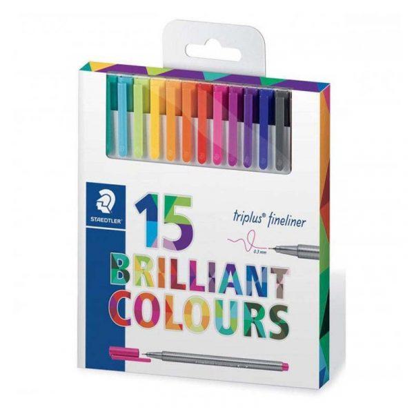 روان نویس استدلر 15 رنگ مدل triplus