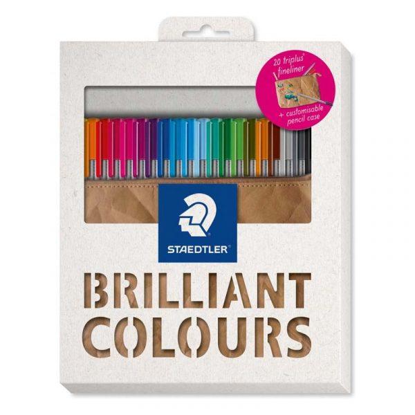 روان نویس استدلر 20 رنگ همراه جا مدادی مدل triplus
