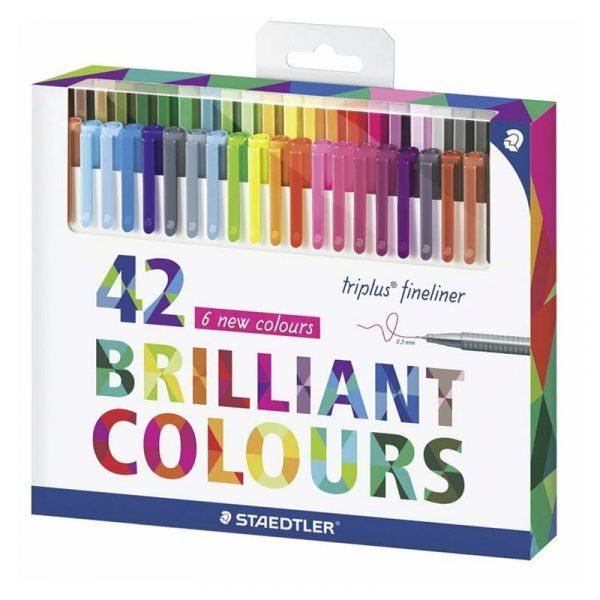 روان نویس استدلر 42 رنگ مدل triplus