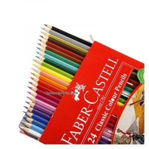 مداد رنگی فابر کستل 24 رنگ مدل classic