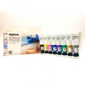 اکرلیک 8 رنگ آرت- رنگ متالیک
