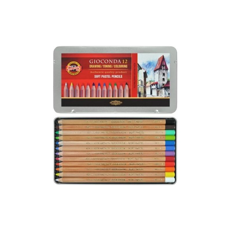 مداد پاستل 12 رنگ کوه نور