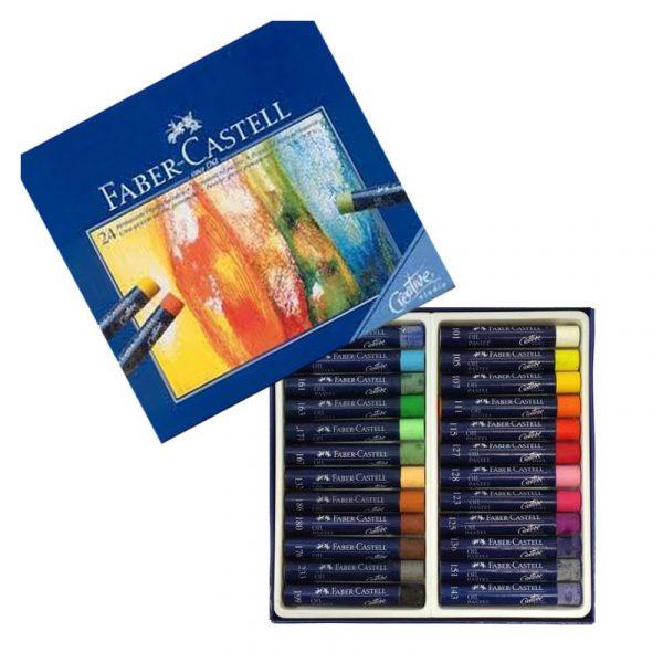 پاستل روغنی 24 رنگ مدل creative فابر کاستل