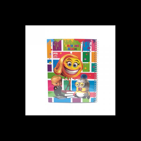 دفتر نقاشی سیمی 100 برگ نهال کد 7165