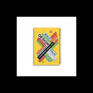 دفتر 2خط 100 برگ نهال کد 7132- زمینه زرد