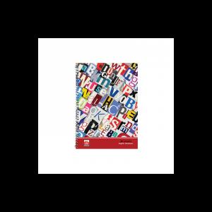 دفتر 2خط 80 برگ نهال کد 7832- حروف رنگی
