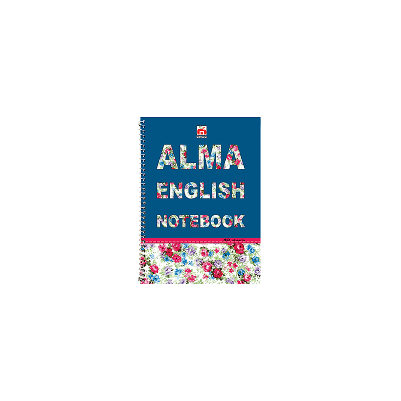 دفتر 2خط 40 برگ نهال کد 7430- حروف انگلیسی گل گلی