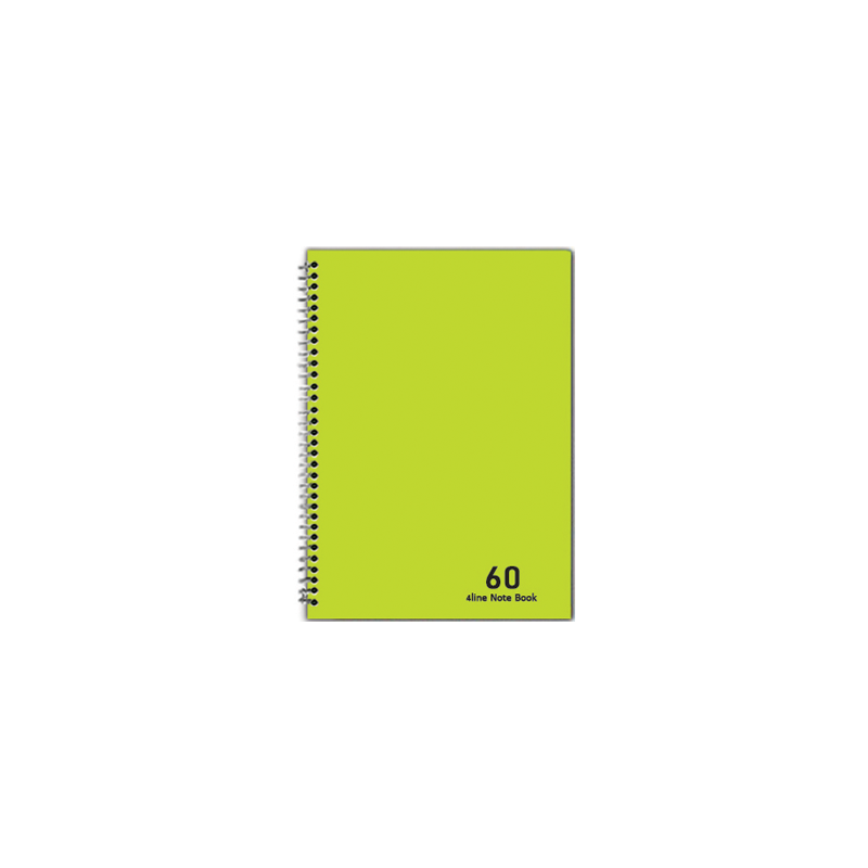 دفتر 2 خط 60 برگ نهال کد 7633- سبز روشن