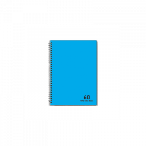 دفتر 4 خط 60 برگ نهال کد 7646- آبی روشن