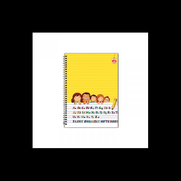 دفتر 3خط 40 برگ نهال کد 9509- زمینه زرد