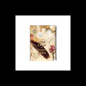 دفتر خط دار سیمی 160برگ نهال کد 7162-روزنامه