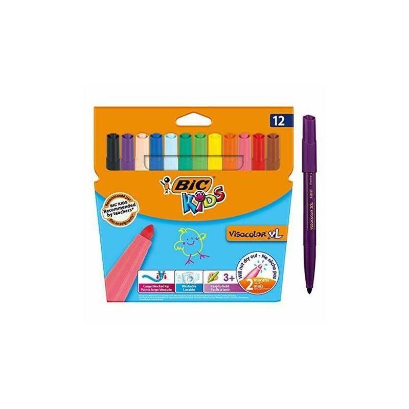 ماژیک رنگ آمیزی بیک سری Kids مدل Kid Couleur Baby - بسته 12 رنگ