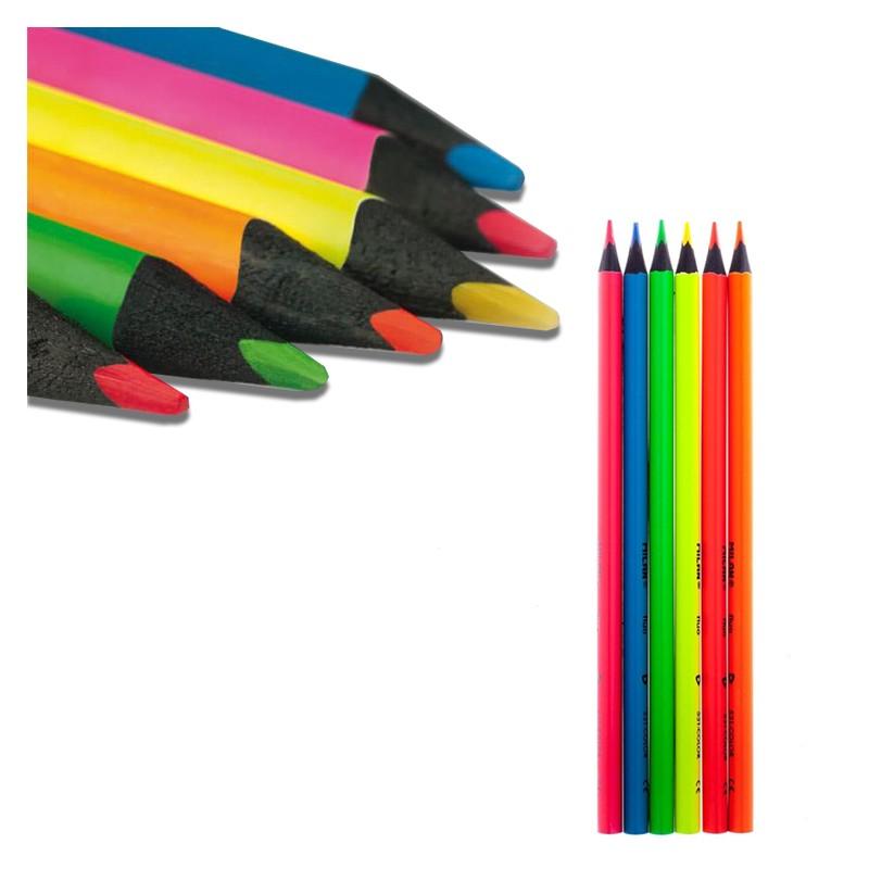 مداد رنگی نئونی 6 رنگ میلان