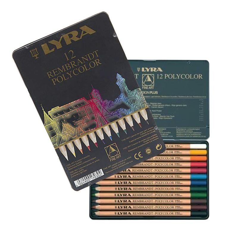 مداد رنگی 12 رنگ پلی کالر لیرا