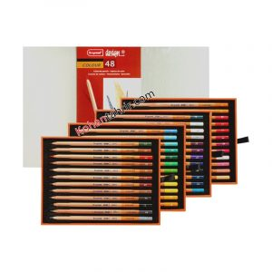 مداد رنگی حرفه ای 48 رنگ جعبه چوبی برونزیل