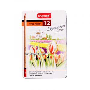 مداد رنگی 12 رنگ نیمه حرفه ای برونزیل