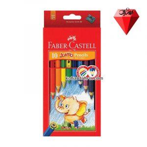 مداد رنگی 10 رنگ جامبو فابر کاستل