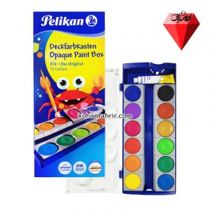 آبرنگ 12 رنگ حرفه ای پلیکان